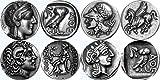 Athena/Eule, Athena/Pegasus, Alexander der große/Athena, Athena/Owl Drachme, griechischen Götter & Göttinnen Münzsammlung, die berühmtesten griechischen Münzen SET 3 von 4 verschiedene Sets