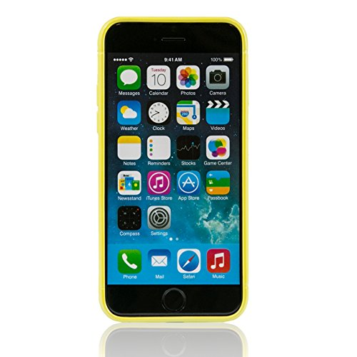 "iProtect Apple iPhone 6 (4,7"") 6s Hülle TPU biegsames Soft Case Schutzhülle Mesh Dunkelblau Soft Case Mesh Gelb"