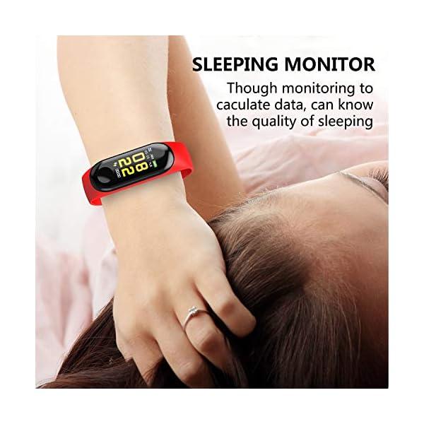 GerTong Fitness Tracker Reloj inalámbrico con pantalla colorida resistente al agua con podómetro para iPhone, Samsung… 7