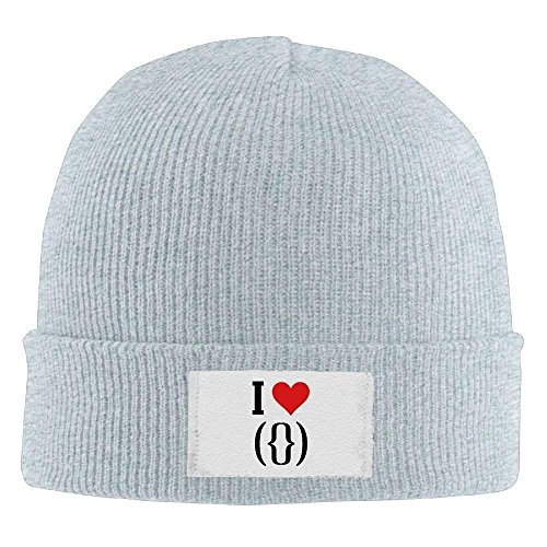 fboylovefor Women I Love Pussy Printed Winter Warm Beanie Hats Skull cap Black