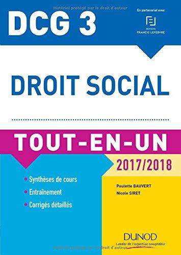 DCG 3 - Droit social 2017/2018-10e éd. - Tout-en-Un