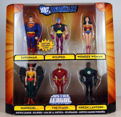 DC Universe Exclusive Action Figure 6-Pack ECLIPSED (Superman , Eclipso , Wonder Women , Hawkgirl , The Flash , Green Lantern )