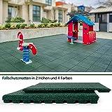 "Granulatboden – Fallschutzmatten ""Play Protect Pro"" – 25 oder 43 Millimeter Stärke (43 mm, Grün) Vergleich"