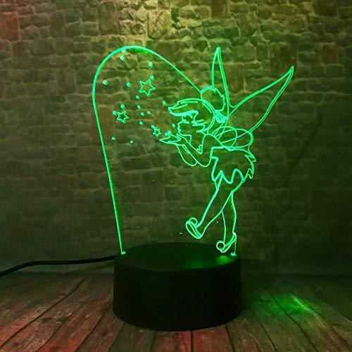 wangZJ 3d führte Illusions-Lampen-Nachtlicht/Partei-Dekorations-Lampe / 7 Farbändern entfernt/ideale Kunst und Fertigkeiten/Elfenschönheit