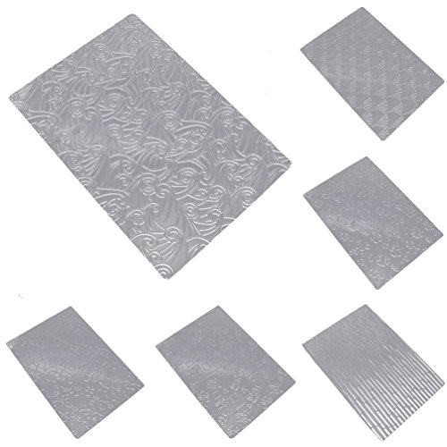 YNuth 6pcs Hawaiien Style Texture Pochoirs Feuille A Motif 3D Texture Sheet Set DIY Accessoire
