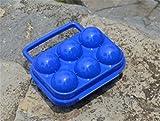 Yeying123 Im Freien Shockproof Eierschale Tragbare Eier Box Portable Eierschutz Box,Blue,Pair
