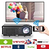 Bluetooth Wireless Projector Home Theater 4200 Lumen LED LCD Android 1080P HD Projector