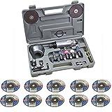Dema Druckluft Winkelschleifer Trennschleifer-Polier-Set 20 teilig + 10 Trennscheiben