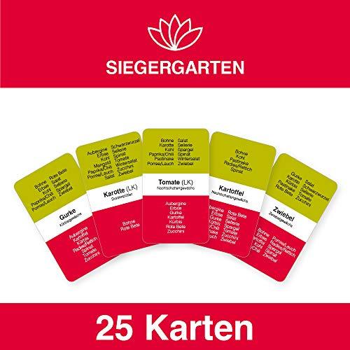 SIEGERGARTEN® Gemüse-Karten: Natürlich erfolgreich Gärtnern   perfekt für Anfänger, Selbstversorger & Bio-Garten
