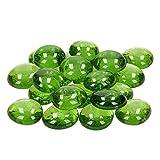 efco–Glas-Nuggets 13–15mm Spring grün, 35Stück