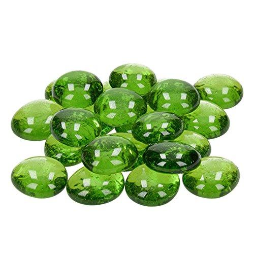 efco-Glas-Nuggets 13-15mm Spring grün, 35Stück Grün 14