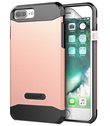 "iPhone 7 Plus 5.5"" Case [Scorpio R5] Premium Protection Cover w/ Screen Guard (Rose Gold) Rose Gold"