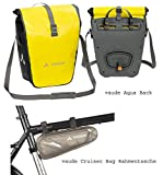 Vaude Aqua Back - 1 Paar - Farbe Canary Rahmentasche SE Cruiser Bag (Pebbles)