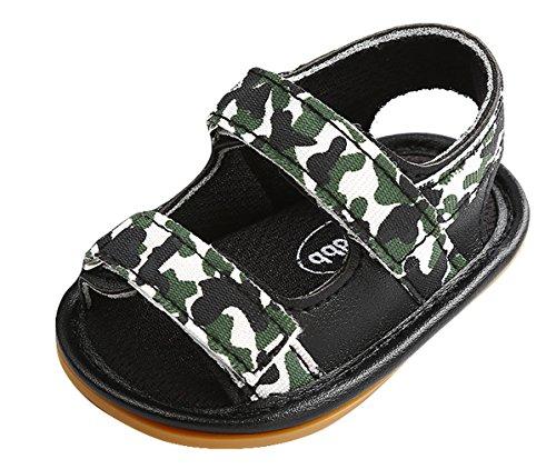 cfced08676e51 Eozy Chaussure Premier Pas Bébé Mixte Semelle Mollet Sandale Scratch Été  Camouflage Antidérapant
