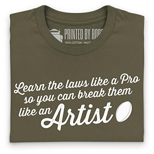 Like An Artist T-Shirt, Damen Olivgrn