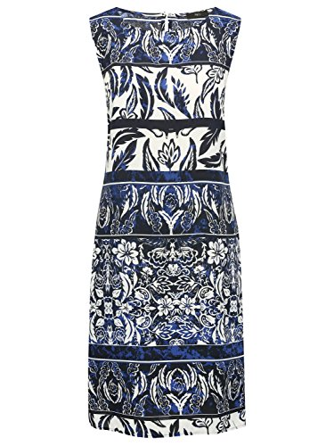 M&Co Ladies Knee Length Sleeveless Crew Neck Floral Tile Baroque Print Tunic Dress