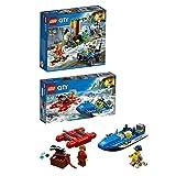 Lego City Bergpolizei 2er Set 60176 60171 Gebirgspolizei Flucht durch die Stromschnellen + Verfolgung durch die Berge