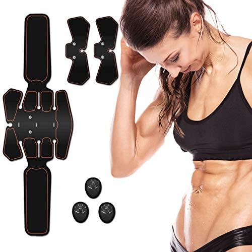 Rootok elettrostimolatore muscolare, ems suscolo addominale, addominali attrezzi abs, addome/braccio/gambe/waist/glutei massaggi-attrezzi,ricaricabile-uomo/donna