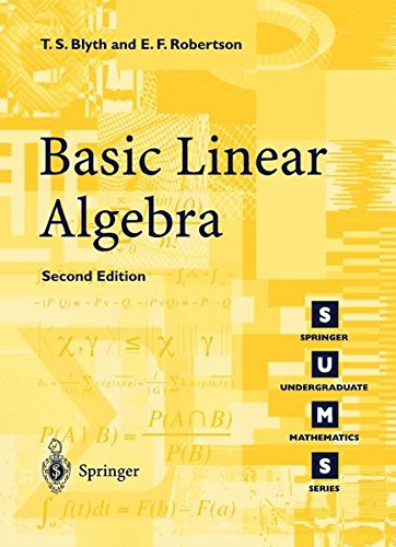 Basic Linear Algebra (Springer Undergraduate Mathematics Series)