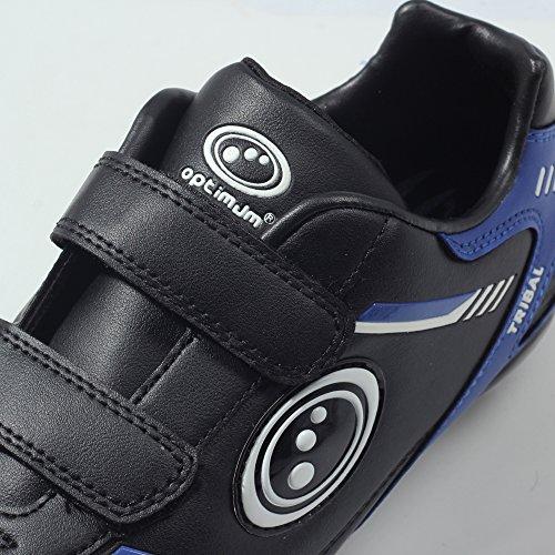 Optimum Tribal Moulded Stud, Scarpe da calcio Bambini e ragazzi Black (Black/Blue)