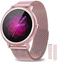 BANLVS Smartwatch Donna IP68, Orologio Fitness 24 Modalità Sportive Sonno Cardiofrequenzimetro Notifiche Messa