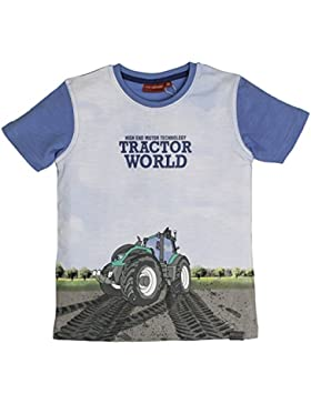 Salt & Pepper T-Shirt Tractor Photoprint, Camiseta para Niños