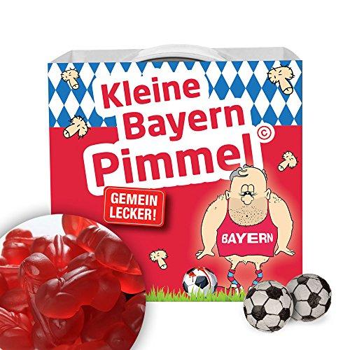 Münchener Kleine Pimmel | Gemein leckere Fruchtgummi, inklusive Messlatte zum lachen & vergleichen | Achtung: Dortmund-, Schalke- & alle Fußball-Fans aufgepasst, so schön kann Fußball sein