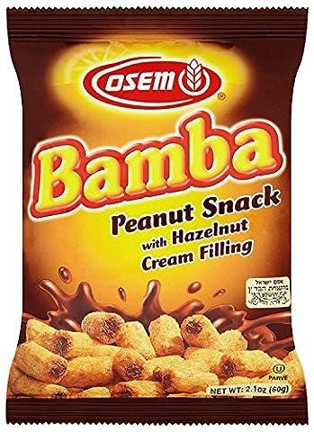Osem Hazelnut Cream Bamba Snack 60 g (Pack of 18)