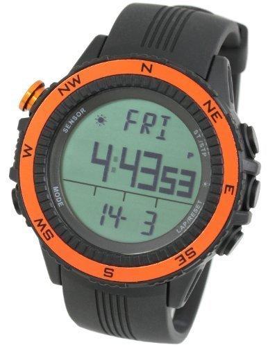 LAD WEATHER lad004orno-eu - Reloj de pulsera para hombres, correa de poliuretano, color naranja