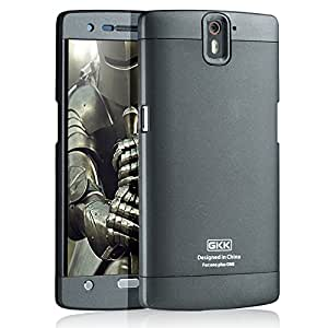 For OnePlus One 3 in 1 Full Body Protector Hard Plastic Back Case Cover by GKK - Grey+Grey+Grey