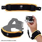 CamKix® 2in1 schwimmende Handschlaufe & Stirnband-Schwimmer- Kompatibel mit Hero 7, 6, 5, Session, Hero 4, Session, Schwarz, Silber, Hero+ LCD, 3+, 3, 2, 1 - Verhindert, DASS Ihre Kamera versinkt