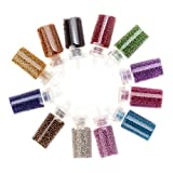 Nail Art-TOOGOO(R) Decorations Nail Art Kit mini caviar beads & Nail Art glitter in 12 assorted color by TOOGOO(R)