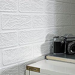 Superfresco Paintable Brick Effect White Wallpaper 93744
