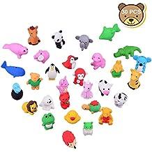 ECENCE 24x Emoji Radiergummi Radierer Smiley Smile Kinder-Geburtstag Mitgebsel Kind 13020206