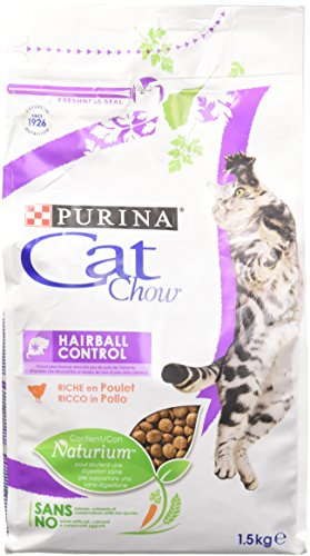 Cat Chow Hairball Control pour Chats Adultes Pack de 1,5 Kg