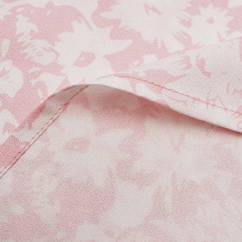 Blooming Jelly Donna Vestito Floreale Lungo Scollato Elegante Vestito Rosa