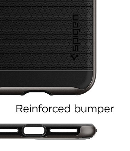 Cover iPhone 7 Plus, Cover iPhone 8 Plus, Spigen® [Neo Hybrid] [2nd Generation] iPhone 7 Plus Cover with Flexible Inner Protection and Reinforced Hard Bumper Frame for iPhone 7 Plus (2016) / iPhone 8  Gunmetal