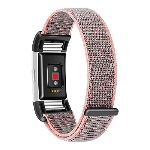 ALIKEEY Elektronik armbänd Leichtes Nylonarmband mit Uhrenarmband für Fitbit Charge 2