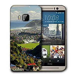 Snoogg Abstract Nature Printed Protective Phone Back Case Cover For HTC One M9