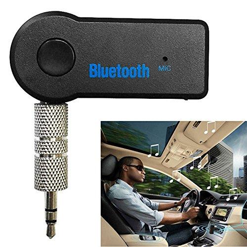 ToDIDAF Kabelloser Bluetooth-Autoempfänger, tragbarer Audio-Adapter, 3,5-mm-AUX-Stereoausgang (Bluetooth 4.2, A2DP, eingebautes Mikrofon) für Auto- / Heimstereoanlagen -