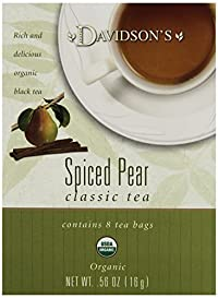 Davidson's Tea Spiced Pear, 8-Count Tea Bags (Pack of 12)