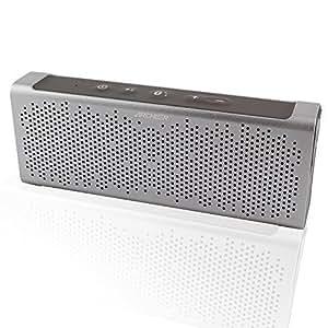 Archeer Altoparlante Bluetooth 4.0 Wireless Impermeabile all'acqua Portatile Ricaricabile Antipolvere Antigraffio Antiurto Amplificatore Speaker 10 ore di Riproduzione Doppia Altoparlante 5W Incassato MIC Argento
