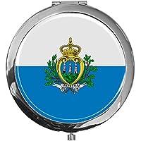 """metALUm - Extragroße Pillendose in runder Form""""Flagge San Marino"""" preisvergleich bei billige-tabletten.eu"""