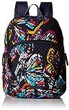 Vera Bradley - Hadley Signature - Sac à dos en coton Femme, multicolore (Butterfly Flutter), taille unique