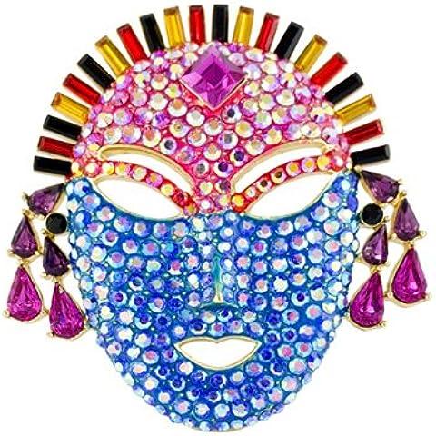 Butler Wilson &-Spilla a forma di maschera, stile Vintage, in cristallo, colore: Multicolore AB