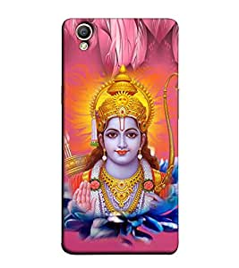 Fuson Designer Back Case Cover for Oppo A37 (Jai Shri Ram Theme)