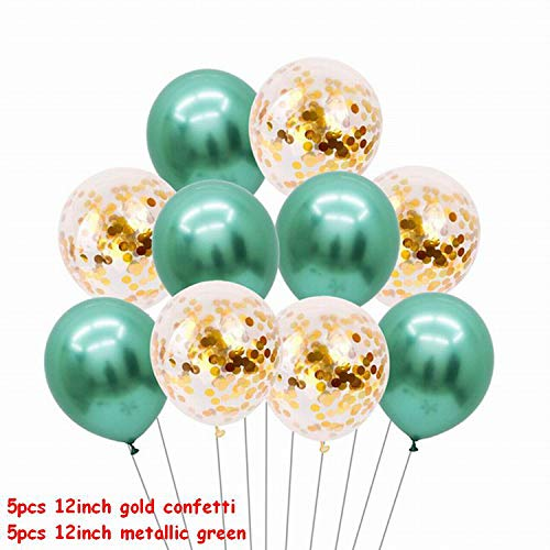 Gold Glitter Luftballons, Gold und schwarze Latex-Ballon Marmor Metallic-Ballon Chrome Ballone Hochzeit Erwachsene Geburtstags-Party-Fotografie Props Dekor, 20