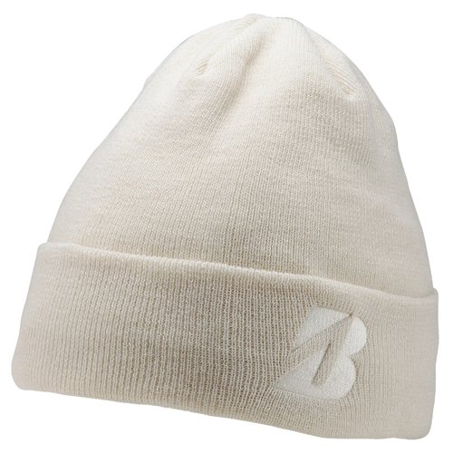 BRIDGESTONE WINTER GOLF BEANIE HAT. WHITE