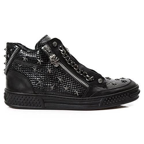 New Rock M Ps053 S1, Boots mixte adulte Noir (Raw Negro/Piton Lux Negro/Pisa)