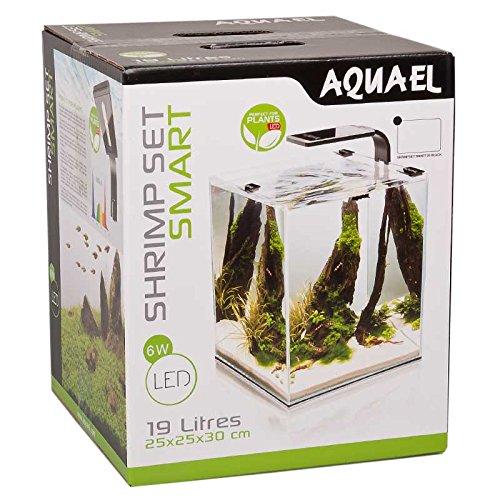 Aquael 5905546191425 Aquarium Shrimp Set Smart LED, Komplett Set Mit Morderner LED - Beleuchtung